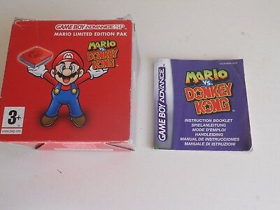 Gameboy BOX FOR MARIO vs DONKEY KONG  GAMEBOY CONSOLE - BOX ONLY
