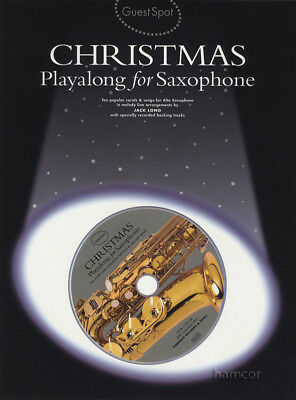 Guest Spot Christmas Playlaong for Alto Saxophone Music Book & Backing Tracks CD
