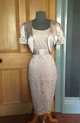Gorgeous Michaela Louisa Lace Mother Of The Bride/evening Dress, And Bolero, 14