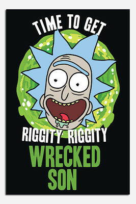 Rick And Morty Time To Get Wasted Son Poster New - Maxi Size 36 x 24 Inch