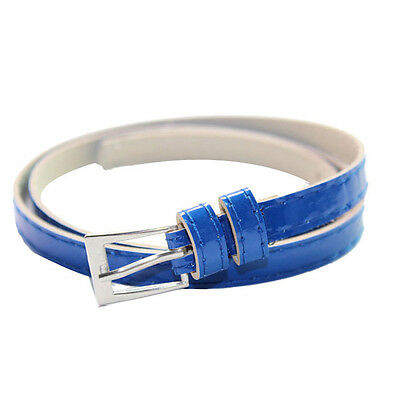 Hot Beautiful Woman Multicolor Small Candy Color Thin Leather Belt Ms Belt