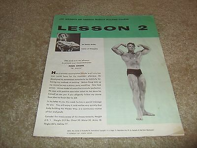Joe Weider Bodybuilding Lesson #2 Champion Muscle Course Doug Strohl 1957 green