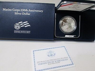 2005 Marine Corps 230th Anniversary Proof Silver Dollar Commemorative