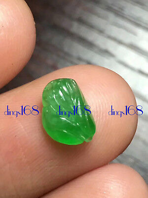 Certified 100% Natural A Jadeite Green Flower ring plane Ring Jewelry JD540