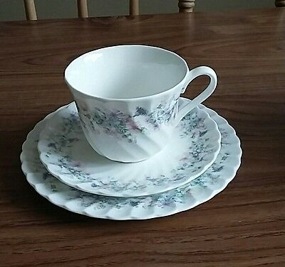 Lovely vintage Wedgwood Angela pattern fluted cup saucer & side plate tea trio