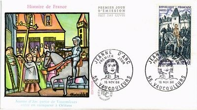 Dr Jim Stamps Joan Of Arc In Orleans First Day Issue France Cover 1968