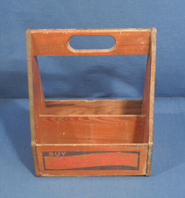 Vtg Antique 1930's Wood Pepsi Cola 6 Pack Bottle Carrier Soda Pop Advertising