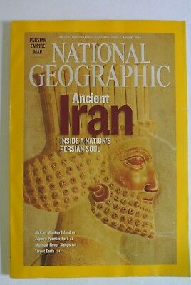 National Geographic Magazine. August, 2008. Ancient Iran Inside A Persian Soul.