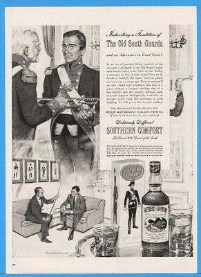 1954 Southern Comfort Whiskey Liqueur Tradition Of Old South Guards Print Ad