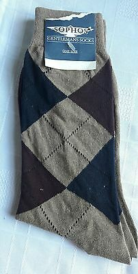 Vintage Mens Lambournes Sophos Argyle Socks New With Tags Size 6 - 11