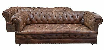 Pair Of 20Th Century Leather Chesterfield Sofas