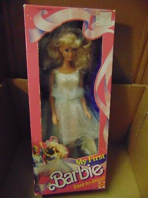 1988 Barbie MY FIRST BARBIE Blonde White Ballerina Outfit NEW 1280