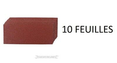 10 Feuille Abrasive 93 X 230 Mm Grain 60 80 120 240 Poncage Poncer Abrasif