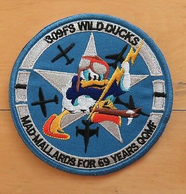 USAF 309th FS Fighter Sqaudron F-16 WILD DONALD DUCK Swril patch