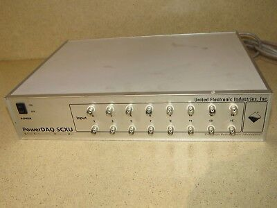 United Electronic Powerdaq Scxu Signal Conditioning Expansion Unit