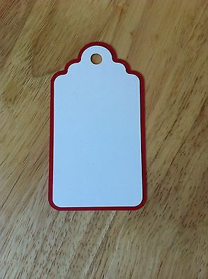 10 X Large Layered Tags Die Cut Shapes-Cardmaking Toppers-Christmas Stamping Etc