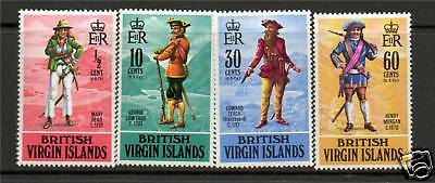 Br Virgin Is 1970 Pirates SG 263/6 MNH
