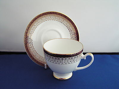 Royal Grafton Red Majestic Tea Cup And Saucer.