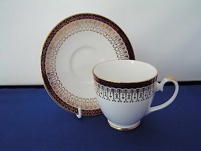 Royal Grafton Red Majestic Coffee Cup And Saucer.