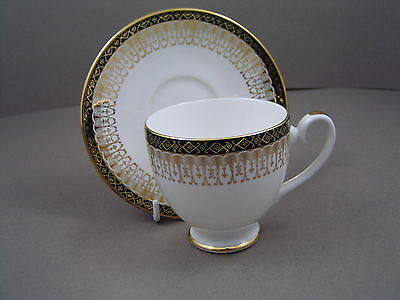 Royal Grafton Green Majestic Coffee Cup And Saucer.