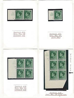 King Edward VIII mainly mint selection of controls on five pages