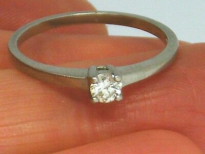 18ct Gold 18k Gold  Diamond  Solitaire Hallmarked ring size N