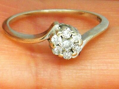 18ct Gold 18k Gold  0.20ct Diamond daisy Cluster ring size K