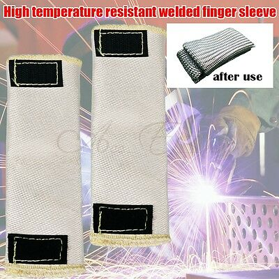 2X TIG Welding Finger Gloves Heat Shield Cover Guard Heat Protection Weld Monger