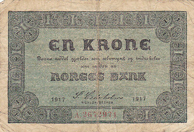 1 Krone Norges Bank 1917