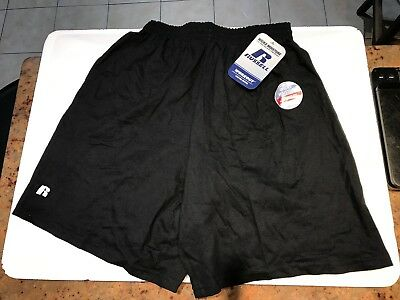 New Russell Athletic Men's Women's 100% Cotton Workout Shorts 42715MO S black sm