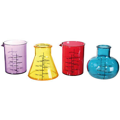 Chemistry Science Lab Equipments Shaped Drinking Cocktail Shot Glass Party Set