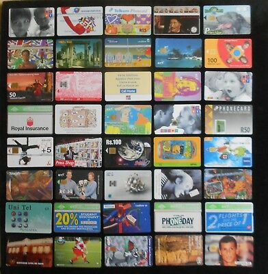 40 x VINTAGE USED TELEPHONE CARDS UK REST OF WORLD ALL DIFF ALL SHOWN LOT 2