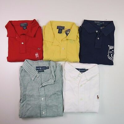Lot of 5 Casual Men's Shirts Size X-Large Polo Ralph Lauren NWT