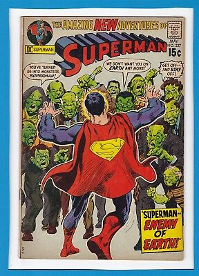 Superman #237_May 1971_Very Good+_Sand Superman_Lois Lane_Bronze Age Dc!