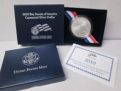 2010 Boy Scouts of America Uncirculated Silver Dollar Commemorative Coin