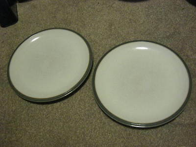 Denby Everyday Mushroom Grey Dessert Plates x 2