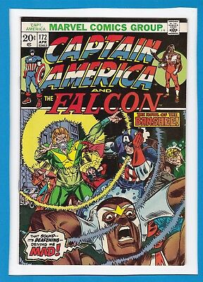 Captain America & The Falcon #172_April 1974_Fine+_Banshee_X-Men_Secret Empire!
