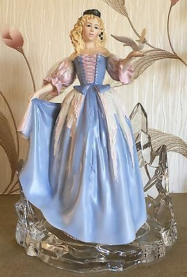 Franklin Mint House Of Faberge Princess Of The Ice Palace On Lead Crystal Base