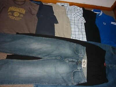 "Bundle Men's Clothes 36"" Waist Jeans Joggers & Size XL Tops Shirt Next Puma Easy"