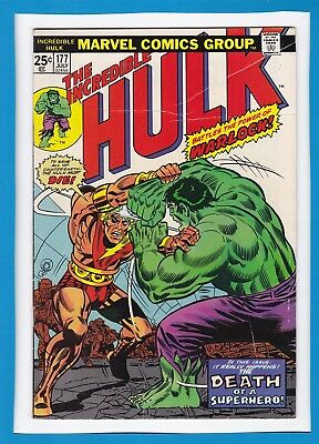 "Incredible Hulk #177_July 1974_Fine+_Warlock_""death Of A Superhero""_Bronze Age!"