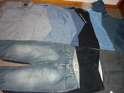 "Bundle Men's Clothes 36"" Waist Jeans & Size XL Tops Hoodie Shirt Quiksilver Next"