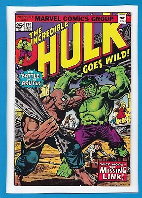 "Incredible Hulk #179_Sept 1974_Fine+_""once More...the Missing Link""_Bronze Age!"