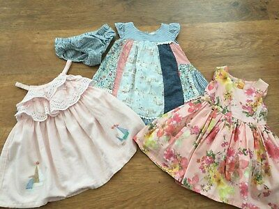 100% Next Baby Girls Small Bundle Of Pretty Dresses 6-9Mths