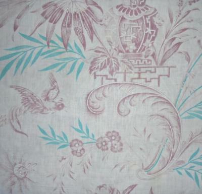 BEAUTIFUL GENTLY FADED 19th CENTURY FRENCH TOILE DE JOUY c1850, PROJECTS