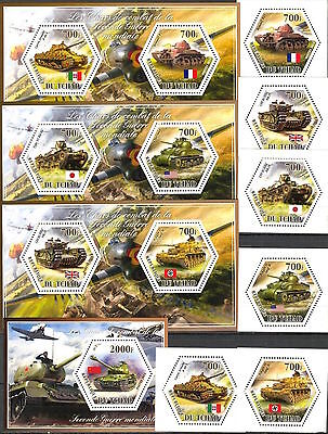 Tchad 2014 - Military & War/Tanks of WWII set of 6 + 4 S/S MNH**