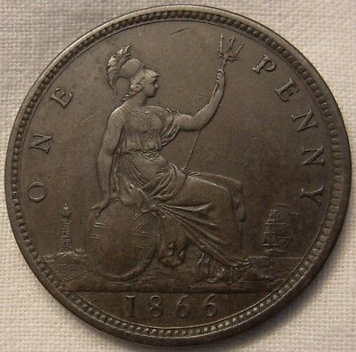 1866 Victoria Penny - Gouby Ab in better grade