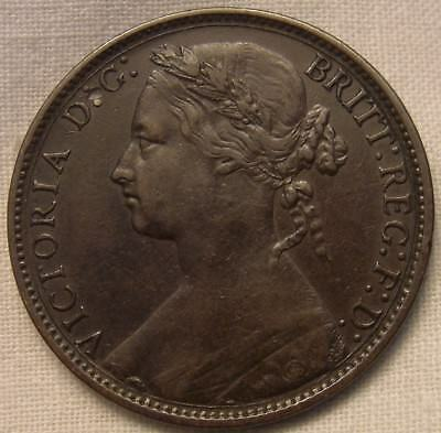 1876H Victoria Penny - Narrow Date