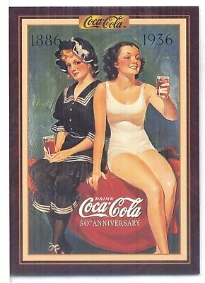 Year 1936: Change in 50 years at the beach, 1994 Coca-Cola Series 3 Card #219