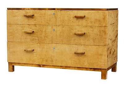 1950's SCANDINAVIAN MODERN BIRCH CHEST OF DRAWERS