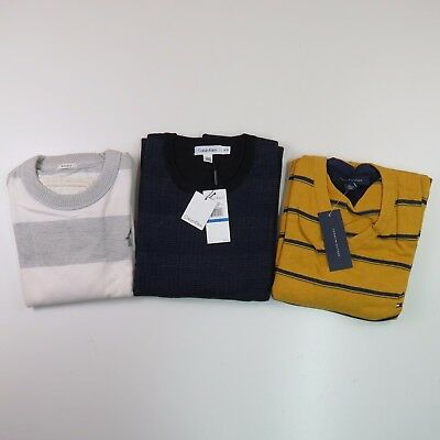 Lot of 3 Casual Men's Comfy Shirts Sweaters Size X-Large Calvin Klein Hilfiger